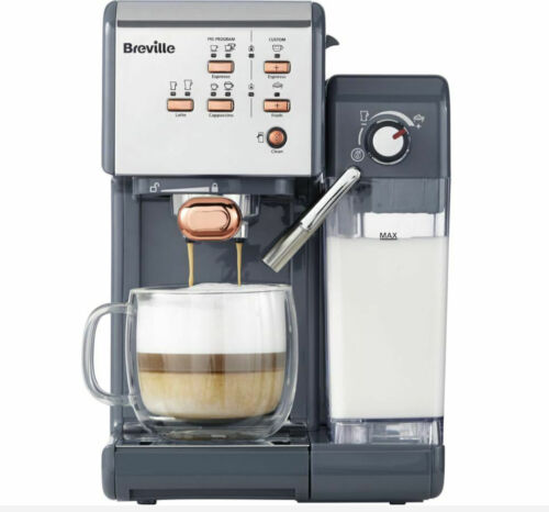 BREVILLE One-Touch VCF109 Coffee Machine Grey /& Rose Gold