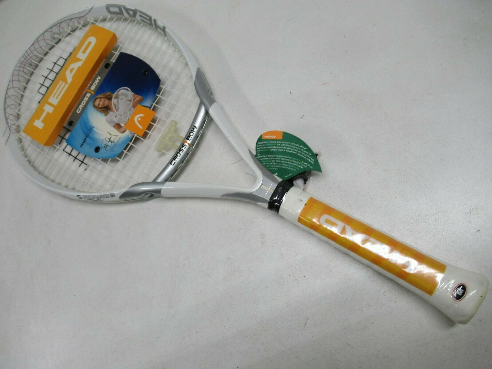 NEW OLD STOCK HEAD CROSSBOW AIRFLOW 5 TENNIS RACQUET (4 3 8) PRE-STRUNG