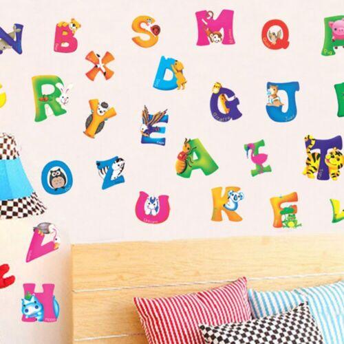 Wall Sticker 26 Alphabet Home Decoration Letters Decal Nursery Kids Room Decor v