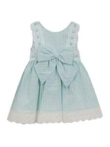1f11996cc23c Rare Editions Mint Green and White Seersucker Apron Sundress Dress ...
