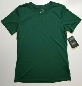 Nike Dri Fit Womens Legend Short Sleeve Tee T-Shirt Crew Neck S Gorge Green NWT