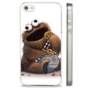 wholesale dealer 47a11 f01ef Details about Star Wars Chewbacca Wookie Cookie CLEAR PHONE CASE COVER fits  iPHONE 5 6 7 8 X