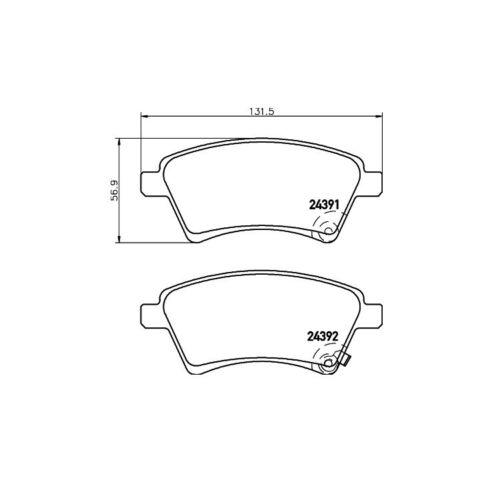Textar Bremsbeläge vorne Fiat Sedici Suzuki SX4
