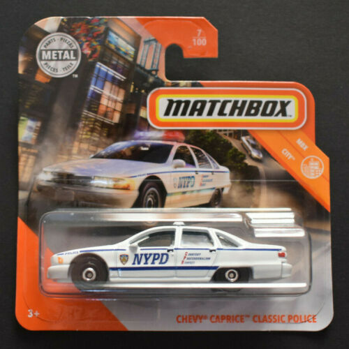 MATCHBOX 2020 POLICE CHEVY CAPRICE CLASSIC POLICE NYPD MBX CITY NEU /& OVP