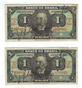 2x-1-pour-MIL-riz-Bresil-1944-c001-p-131a-Brazil-billet