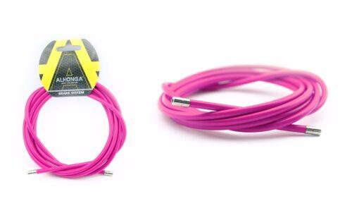 ALHONGA brake cable sheath Exchange Laminated Steel Pink 2m ø5mm Bike Bicycle