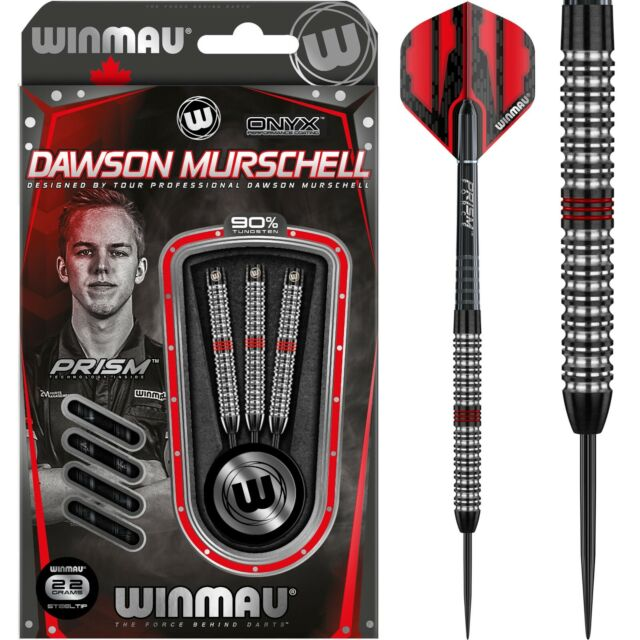 Winmau Dawson Murschell Onyx 90/% Tungsten Darts 22g