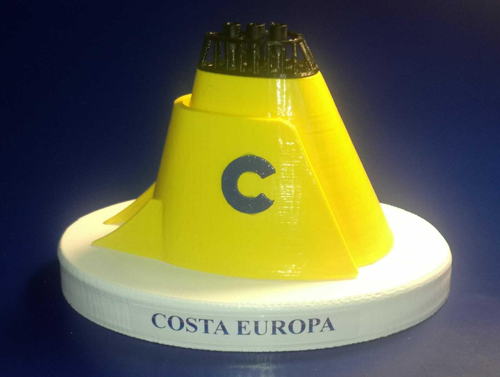 Ciminiera Ciminiera Ciminiera Costa Crociere M n Costa Europa in  scala 1 300 ex Homeric Home line c1f226