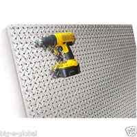 Commercial Grade Metal Pegboard - 4 X 4 Panel - Diamond Plate Fit Standard Hooks