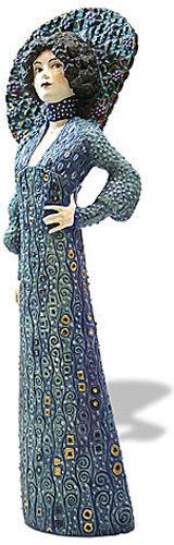 Gustav Klimt EMILIE FLOGE PORTRAIT Art Sculpture Figure NEW