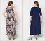 Attitudes-by-Renee-Regular-Set-of-2-Printed-amp-Solid-Maxi-Dresses-Tropical-XXS thumbnail 10
