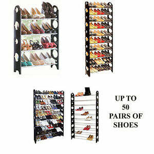 Image Is Loading 4 10 Tier Shoe Storage Shelf Rack Stand