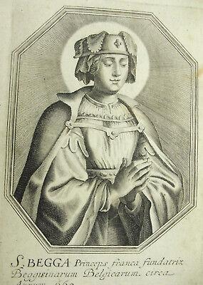 Sainte Begga Begge D'andenne Michiel Van Lochom Xviie Duchesse D'aiguillon 1639