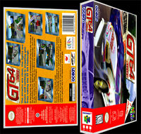 Gt 64 - N64 Reproduction Art Case/box No Game.