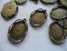 20 18x13mm tray Antique bronze Pendant/earring findings bezels bases.26x17mm,