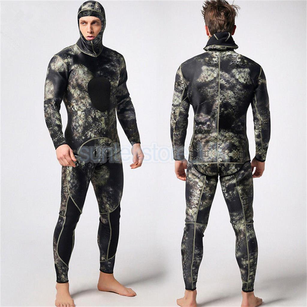 Hombre 3mm súper Stretch Traje de dos piezas traje de Buceo Natación Pesca Submarina L