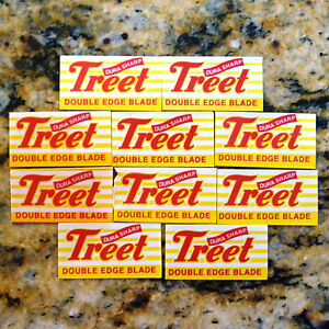 10 Treet Dura Sharp Carbon Steel Double Edge Razor Blades
