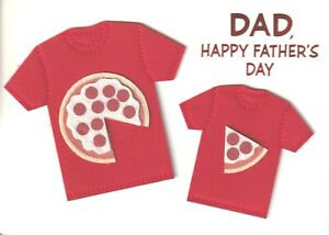 NIP PAPYRUS Birthday Card $6.95 Pizza Beer Cheers New For Dad Father