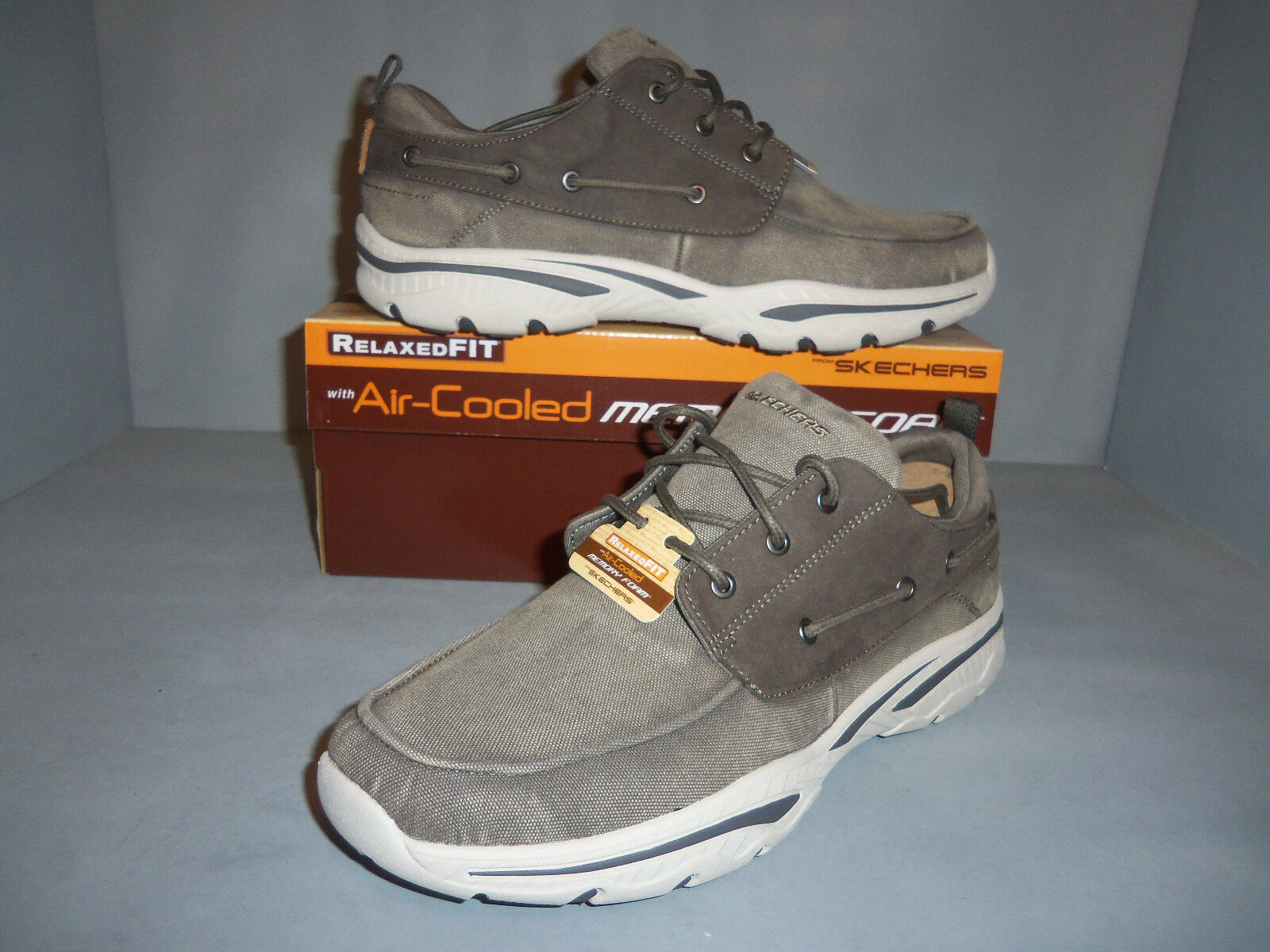 Men's Skechers Relaxed Fit Creston Vosen Boat shoes Sizes  New NIB Style  65347