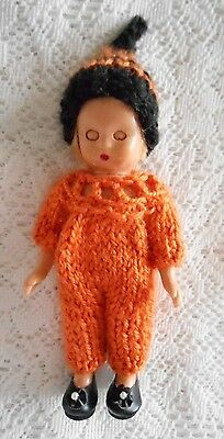 "Doll Clothes Thanksgiving Fall pumpkin outfit 5-6"" fit NancyAnn"