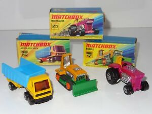 J-matchbox-superfast-LOT-OF-3-BIG-BULL-MOD-TRACTOR-ARTICULATED-TRUCK