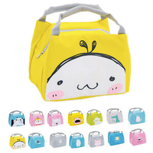 Children Insulated Lunch Pack Box Bag Kids Boys Girls School Food Picnic Box