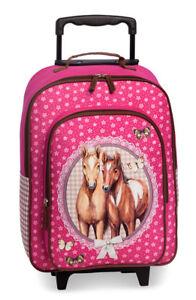 Fabrizio-Kindertrolley-Trolley-Reisetrolley-Kinder-Koffer-Pferde-Pferd