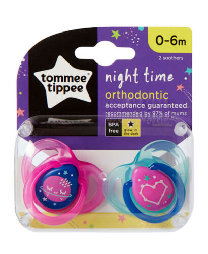 Tommee Tippee Night Time Soothers 0-6 months