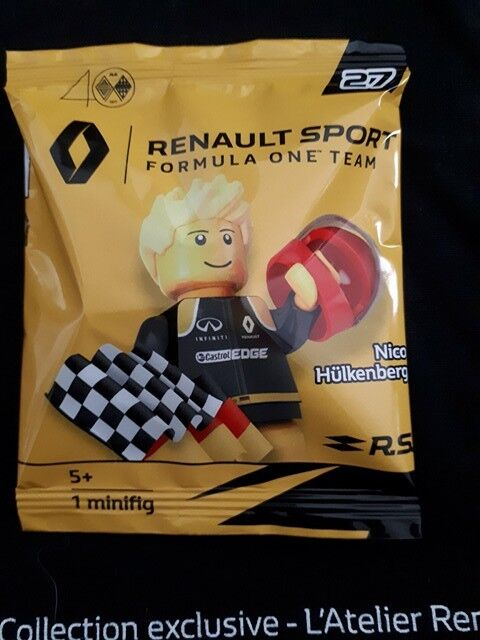 Lego Renault minifig exclusive Nico Hülkenberg polybag NEUF Limited Edition