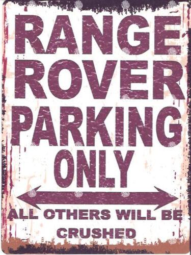 RANGE ROVER PARKING SIGN RETRO VINTAGE STYLE 8x10in 20x25cm garage workshop art