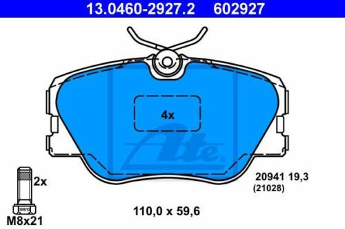 ATE Bremsbeläge VA für MERCEDES E-KLASSE S124 ,KOMBI W124,A124,C124,S124