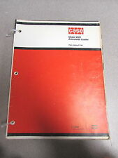 Case W20 Articulated Loader Parts Catalog Manual F1184 1975