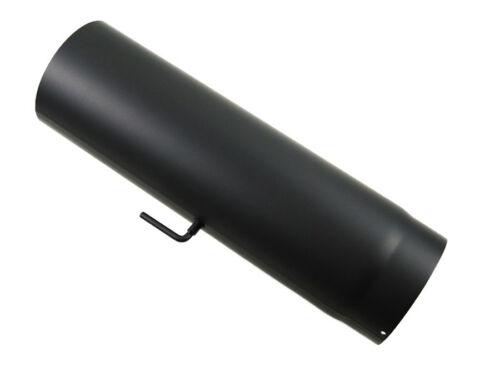 Rauchrohr DN 180 mm Ofenrohr Länge 1000 mm Drosselklappe Schwarz Stahl Kamin Neu
