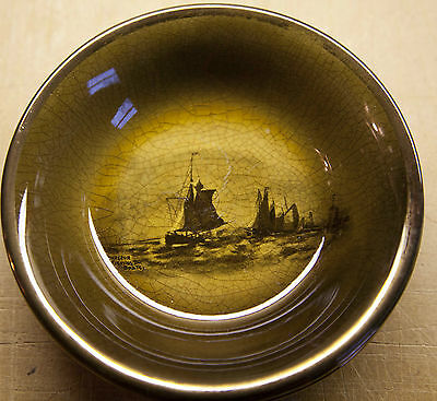 """5 3/8"""" Bowl Objective Royal Vista Ware By Ridgway Of England Honfleur Fishing Boats"""