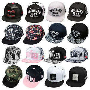 46c477c4bccbe4 Fashion Adjustable Unisex Hip Hop Bboy Baseball Hat Snapback Cap Men ...