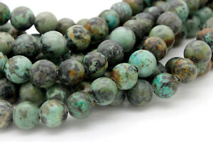 Matte-Agate-Green-Round-Ball-Sphere-Loose-Gemstone-10mm-Beads-2-5mm-hole