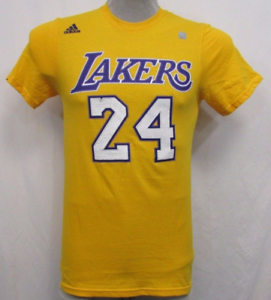 new styles 8e98d f76de Details about Adidas NBA Los Angeles Lakers Shirt Kobe Bryant - Men's SMALL