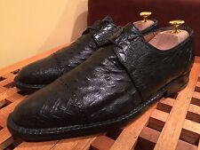 David Eden Rare Black Alligator And Ostrich Shoes 9.5 $695