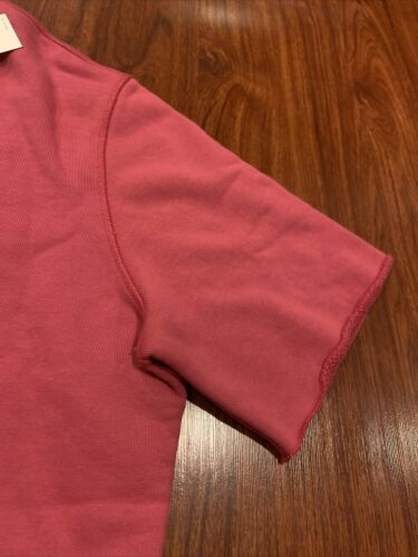 Details about  /Levi's Made /& Crafted Pink Boxy Cut Off Crewneck Sweatshirt Medium M MSRP $198