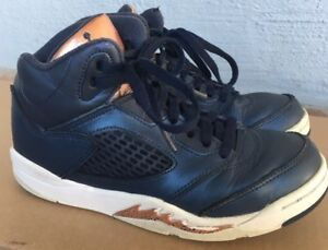f4dba9fd7cd080 Nike Air Jordan 5 V Retro BP PS 2Y Youth Obsidian Blue Bronze Medal ...