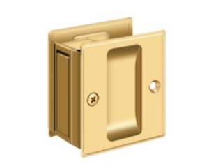 """Passage Pocket Door Hardware 2-1//2/"""" x 2-3//4/"""" Solid Brass in 11 Finishes By FPL"""