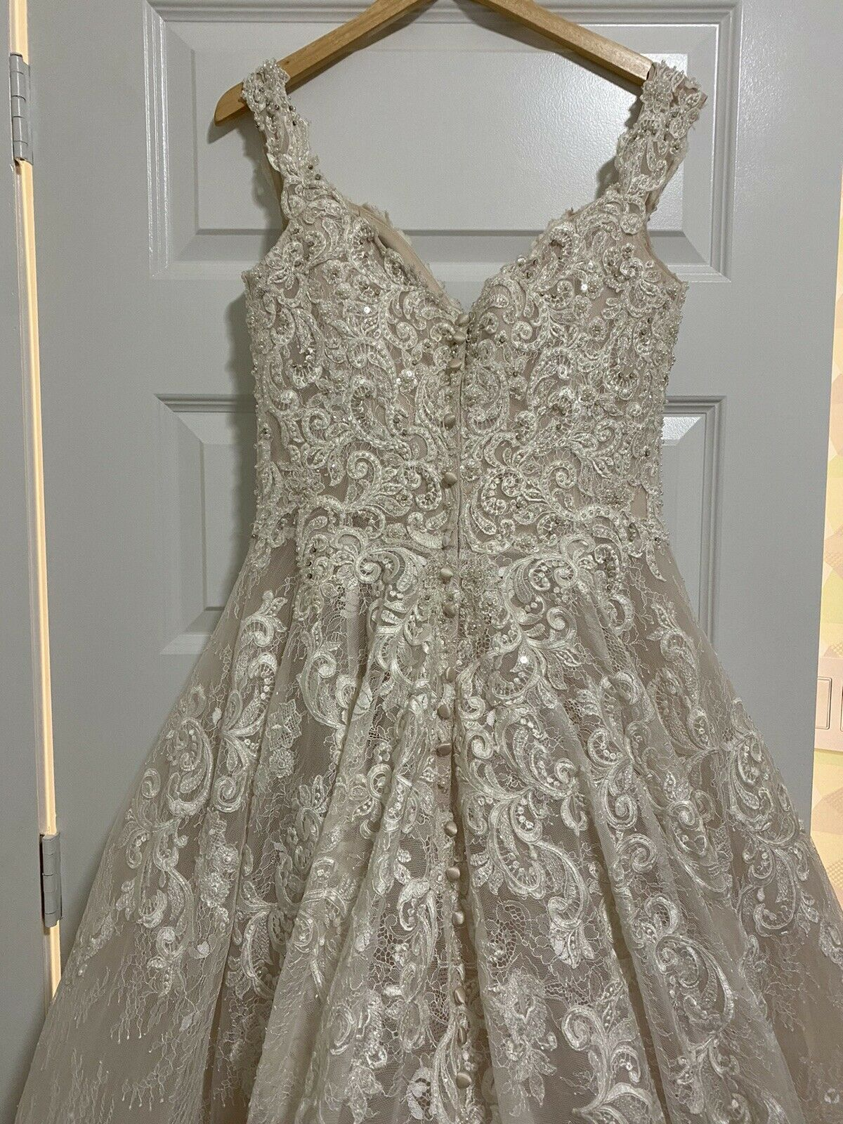Wedding Dress Allure Couture C461 Size 10 - image 7