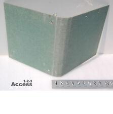 Vtg Mead Canvas Cloth Cover School 3 Rings Binder 15 Roundback Green 11 28