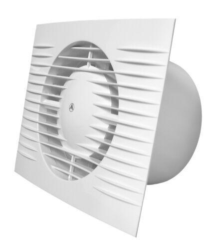 Bianco Aspiratore di Bagno 100mm With Sensore Umidità /& Timer Ventilatore D100H