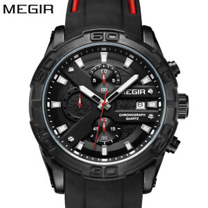 MEGIR-Sport-Men-Watch-Chronograph-Quartz-Wristwatch-Silicone-band-Army-Watches