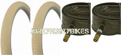"26x2.125/"" BLACK BEACH CRUISER BIKE BICYCLE TIRE SMALL BRICK FITS SCHWINN S2"