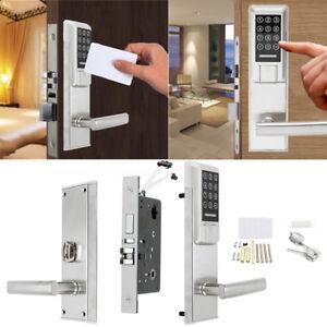 Image is loading Electronic-Digital-Smart-Password-Door-Lock-Keypad-Touch-  sc 1 st  eBay & Electronic Digital Smart Password Door Lock Keypad Touch Screen ...