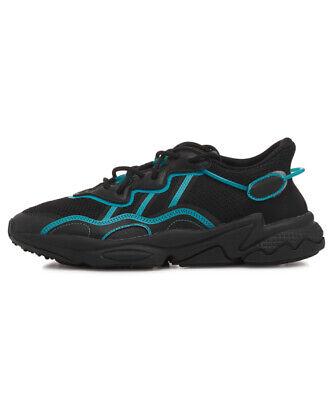 Adidas Ozweego Running Shoes Trainer Black and Bright Cyan FV3593   eBay