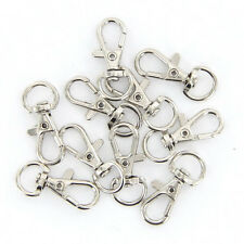 10Pcs/Lot Silver Swivel Trigger Clips Snap Lobster Clasp Hook Bag Key Ring Hooks