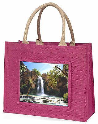 Wasserfall Große Rosa Einkaufstasche Weihnachten Geschenkidee, W-1BLP